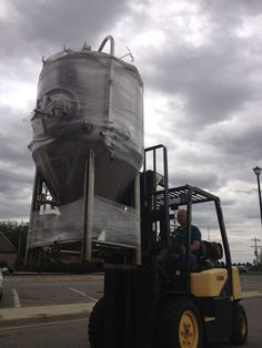 Shiny new 7bbl fermenter in bound for City Star Brewing.