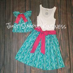 Vestidos de mamá y yo. Mamita y yo ropa. por JustSimpleKindness