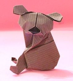 going to try and reproduce this origami koala big enough to be a product stand....
