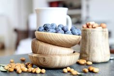 cute wooden bowls