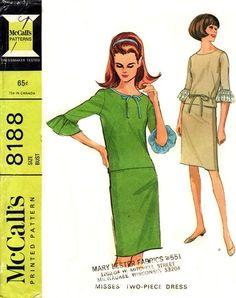 McCall's 8188 Killer Two-Piece Dress 1966