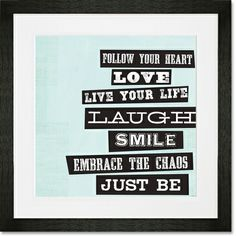 Just Be Framed Art Print