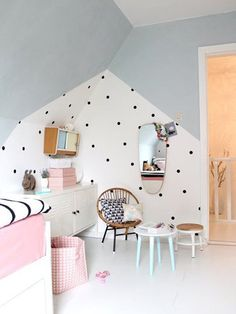 34 Unique Scandinavian Kids Bedroom Design To Make Your Daughter Happy. Our children spend most of their time in their own room, either playing games or studying, watching cartoons, etc. Deco Design, Wall Design, House Design, Scandinavian Kids, Diy Zimmer, Kids Room Paint, Kids Rooms, Small Rooms, Kids Bedroom Designs