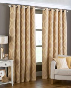 Arch Ready Made Eyelet Curtains In Gold From £67.99