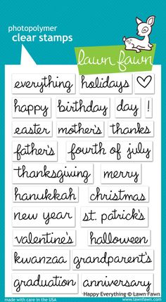 happy everything | Lawn Fawn