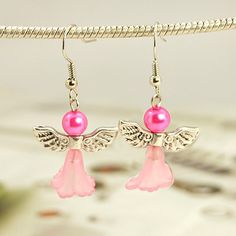 Lovely Wedding Dress Angel Earrings