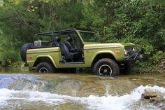 Small Streams are no problem for this Bronco.