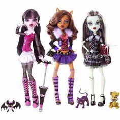 As 3 Monster High Clássicas: Draculaura, Frankie E Clawdeen - R$ 269,70 no MercadoLivre