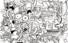 coloring page for older kids (you know, the ones who think they're too cool to color)