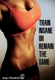 Fitness Motivation: Train Insane Or Remain The Same - fitness mujer motivacion Fitness Hacks, Fitness Workouts, Fitness Goals, Fun Workouts, Fitness Tracker, Fit Girl Motivation, Fitness Motivation Quotes, Health Motivation, Weight Loss Motivation