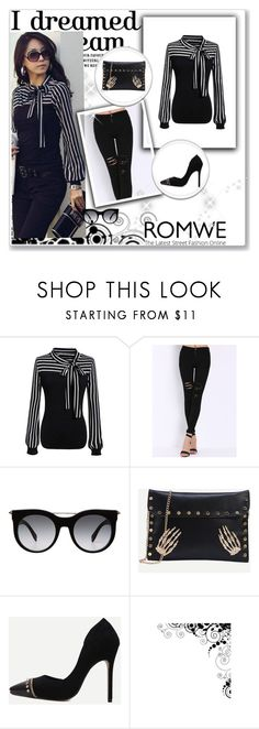 """""""Romwe 9/VI"""" by nermina-okanovic ❤ liked on Polyvore featuring Alexander McQueen and romwe"""