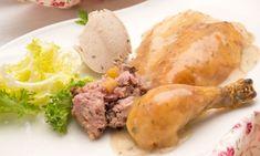 Receta de Pollo relleno con puré de castañas
