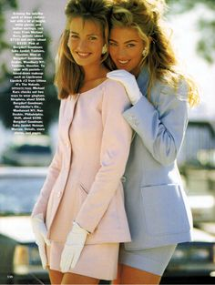 """Soft Focus"", Vogue US, February 1991Photographer : Patrick DemarchelierModels : Karen Mulder & Elaine Irwin"