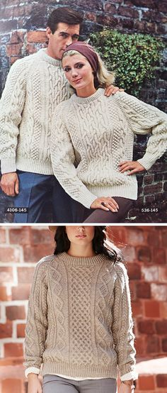 Make Your Own Basics: The fisherman sweater - Fringe Association Free Aran Knitting Patterns, Knitting Ideas, Pull Crochet, Vintage Knitting, Cable Knit Sweaters, Free Pattern, Photo Pattern, Sweater Patterns, Opportunity