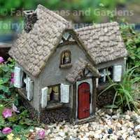 A fairy house with Tudor styling is sure to please the fairies in your garden. Collect all of the Woodland Knoll themed fairy houses for a an entire fairy village. Clay Houses, Miniature Houses, Miniature Fairy Gardens, Fairy Garden Furniture, Fairy Garden Houses, Fairies Garden, Gnome Garden, Fairy Village, Gnome Village