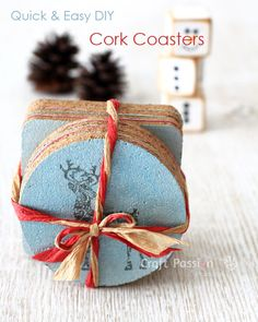 Quick and easy DIY Cork Coasters, perfect to make as gift. Easily customize to suit the occasion by using special theme design. Presentable.– Page 2 of 2