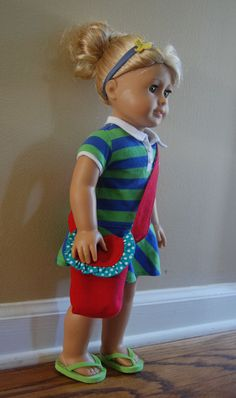 Instructions to make - A Messenger Bag with Matching Doll Purse