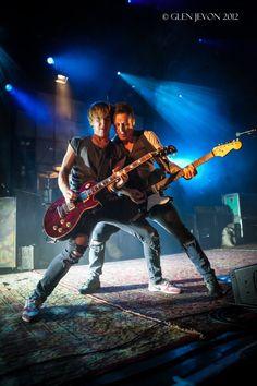 Danny Jones and Tom Fletcher- I so want both of those guitars!