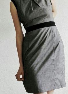 sukienka new look szara biurowa