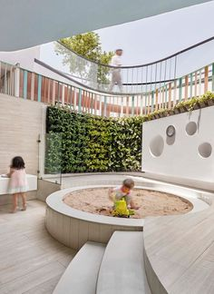 Image 1 of 27 from gallery of SIS PREP Gurugram / PAL Design + Urbanscape Architects. Photograph by Suryan Dang Daycare Design, Playroom Design, School Design, Kindergarten Interior, Kindergarten Design, Playground Design, Indoor Playground, School Architecture, Architecture Design