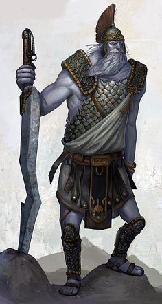 Frost giants are immense humanoids that dwell in the inhospitable peaks at the extreme edges of the world. Crude, dull, and simplistic, the frost giants terrorize all they encounter. Like all giants, they are also able rock-tossers. As befits their habitat, they are resilient in the face of cold, but succumb more easily to fire.