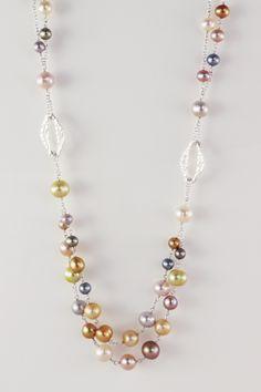 Confetti Pearl Necklace - Biba Design Jewelry