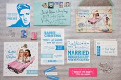 Las Vegas, Elvis-themed invitations // photo by Sonya Yruel // invitations by Yelley