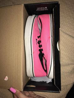 Vans Authentic Neon Pink White Mens Sz  5 Womens Sz. 7 - Used GOOD  CONDITION  fashion  clothing  shoes  accessories  unisexclothingshoesaccs  ... e0750ee68
