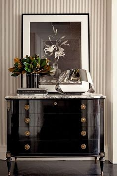 Black Lacquered Chest-Black and White Decor-Rough Luxe Lifestyle