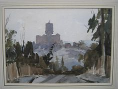 Edward Wesson (1910-1983), Guildford from Pewley, watercolour, signed, 24cm x 34cm.