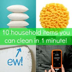 What do I love about cleaning? When it's done! Usually the dirtiest things in my home are the ones I forget about completely and, thus, never clean. Luckily, that's easy to fix; if you have ten minutes, you can get these ten chores done today.