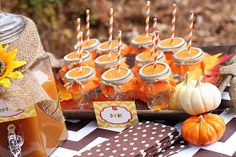 """Anyone have a """"Little Pumpkin"""" in the house? Amanda's Parties To Go has an adorable printables set perfect for fall birthdays. Pumpkin Birthday Parties, Halloween Birthday, Birthday Party Decorations, 2nd Birthday, Birthday Ideas, Fall Halloween, Halloween Ideas, Little Pumpkin Party, Baby In Pumpkin"""