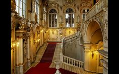 Hermitage Museum in St. Petersburg, Russia-The Winter Palace Jordan Staircase. Hermitage Museum, Hermitage Russia, Great Comet Of 1812, Palace Interior, Winter Palace, Palace Of Versailles, Grand Staircase, Stairways, Interior Decorating