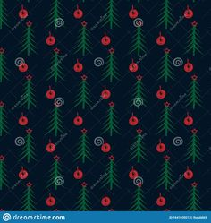 Illustration about Freehand drawn spruce fir-tree pattern with balls. Illustration of abstract, firtree, winter - 164103921 Tree Patterns, Fir Tree, Winter Collection, How To Draw Hands, Abstract, Illustration, Summary, Illustrations