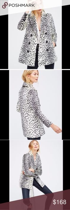 Free People Leopard Print Coat Size XS Super Soft coat featuring a fun leopard print and comfy padded lining. Hidden side pocket. Free People Jackets & Coats
