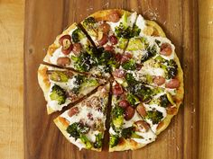 Flatbread with Charred Broccoli and Roasted Grapes Recipe : Alex Guarnaschelli : Food Network - FoodNetwork.com