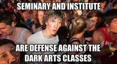 Never thought about it that way :) Harry Potter/Seminary mashup. Memes Humor, Lds Memes, Humor Videos, Rwby Memes, Funny Humor, Church Memes, Church Humor, Funny Mormon Memes, Funny Quotes