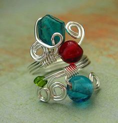 Wire and bead ring