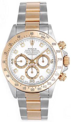 Diamond Rolex Daytona 2-Tone Chronograph Watch 16523