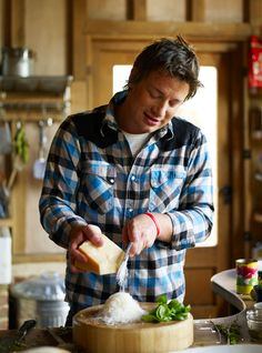 Jamie Oliver - You cook, I'll watch.  We can talk about your vegetable garden.