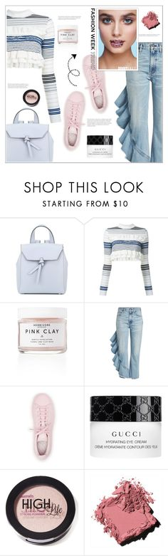 """BRIGHT RUFFLES"" by arwitaa on Polyvore featuring Alexandra de Curtis, STELLA McCARTNEY, Citizens of Humanity, adidas, Gucci, Australis and Bobbi Brown Cosmetics"