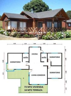 Vacation home KR Dream House Plans, Small House Plans, House Floor Plans, Cottage Plan, Tiny House Design, House Layouts, House In The Woods, Future House, Building A House
