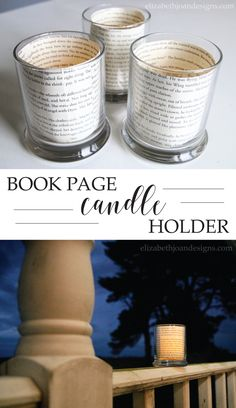 Book Page Candle Hol