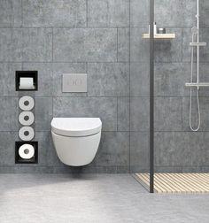 Inbouw Toilet Reserve Rolhouder met 1 Houder RVS Mat Zwart Rvs, House Design, Interior Design, Bathroom, Home, Granny Pod, Slim, Nest Design, Washroom