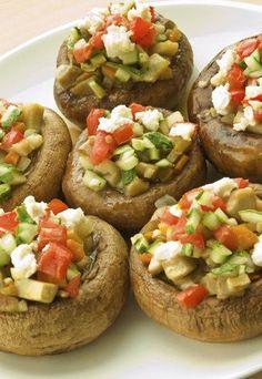 Vegetarisch Grillen - Gefüllte Champignons *** Simple Veggie BBQ - Stuffed Mushrooms