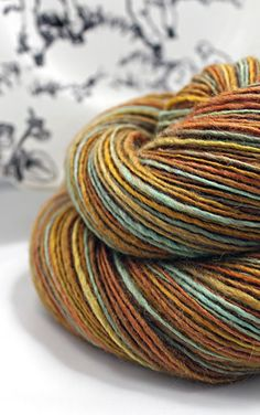 Handspun Yarn Gently Thick and Thin Single Camel by SheepingBeauty, $44.00