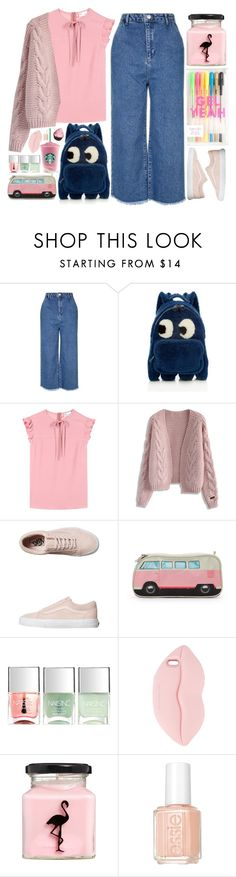 """""""Fun Day"""" by doga1 ❤ liked on Polyvore featuring Topshop, Anya Hindmarch, RED Valentino, Chicwish, Vans, Nails Inc., STELLA McCARTNEY, ASOS and Essie"""