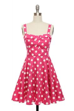 Love polka dots and in what better colour than pink:)