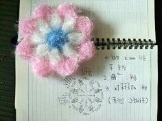 다가오는 명절에 선물할 수세미 제작중. 호빵 수세미를 쓰다보니 음식 찌꺼기가 잘 안빠져 2겹 단면으로 떠... Crochet Potholders, Crochet Flowers, Free Pattern, Diy And Crafts, Crochet Necklace, Crochet Patterns, Knitting, Jewelry, Crocheting