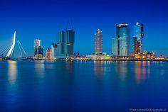 Skyline Rotterdam vanaf Westerkade